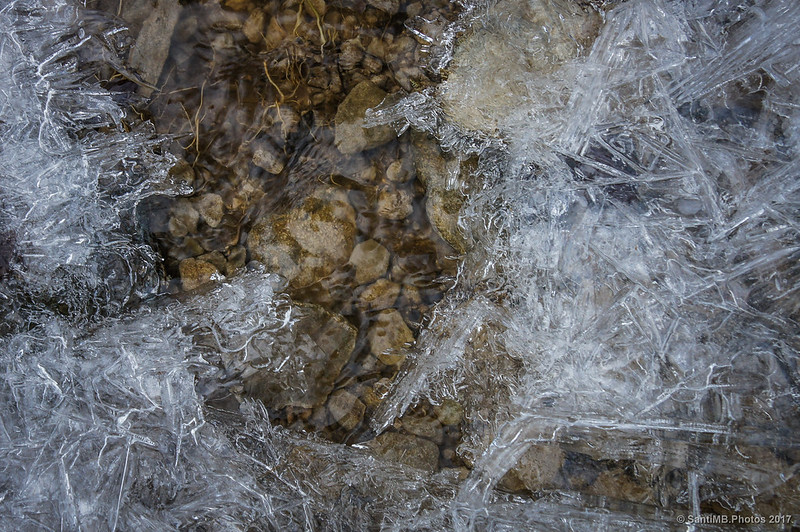 Textura del hielo en La Comellassa
