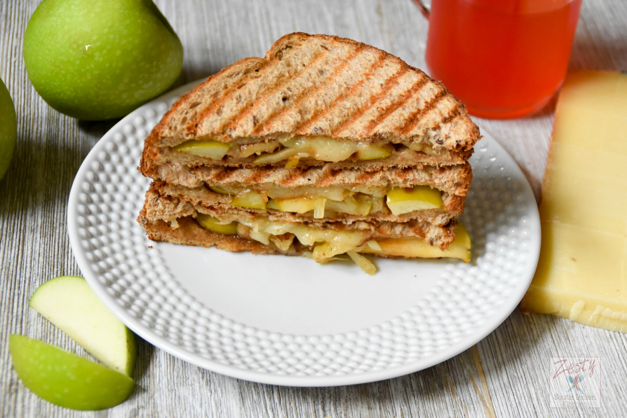 Apple Comte Cheese Walnut Panini Zesty South Indian Kitchen
