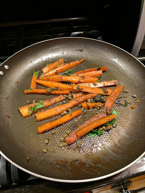 Braised Carrots and Capers