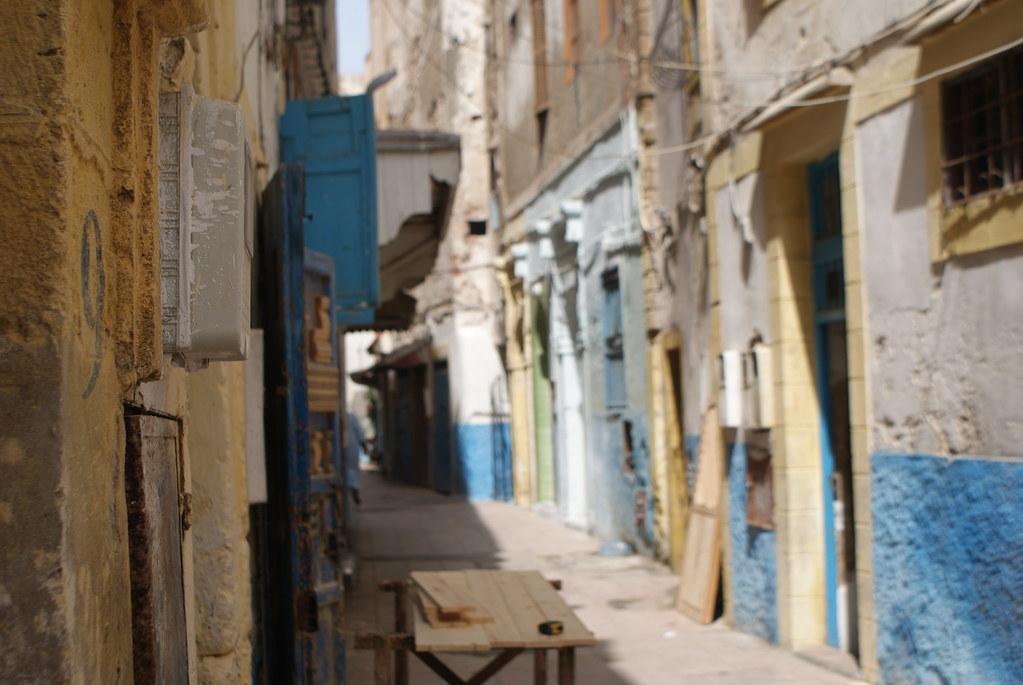 On se croirait presque en Normandie à Essaouira sauf que non... rien à voir. Bon les couleurs un peu.