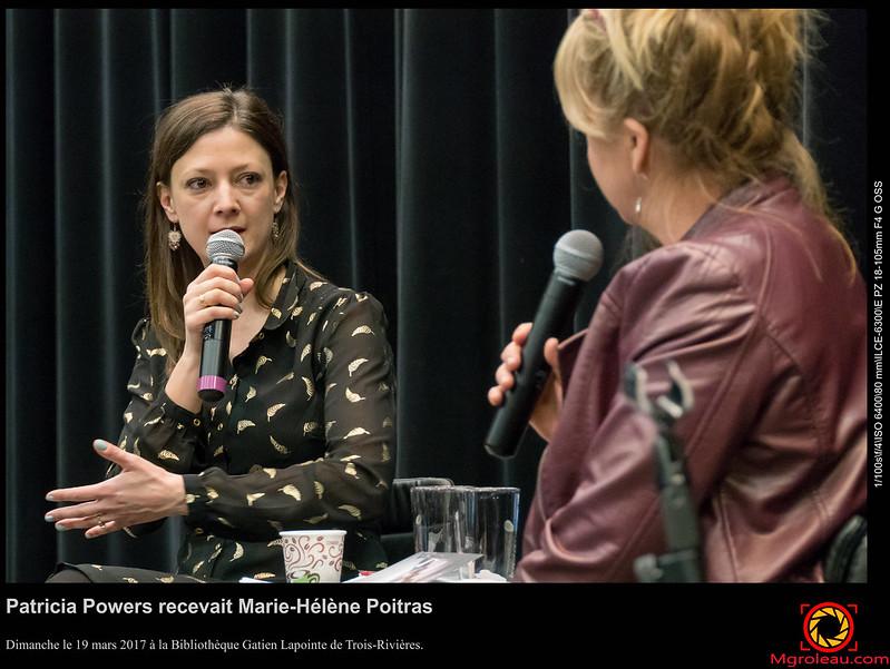 Patricia Powers recevait Marie-Hélène Poitras