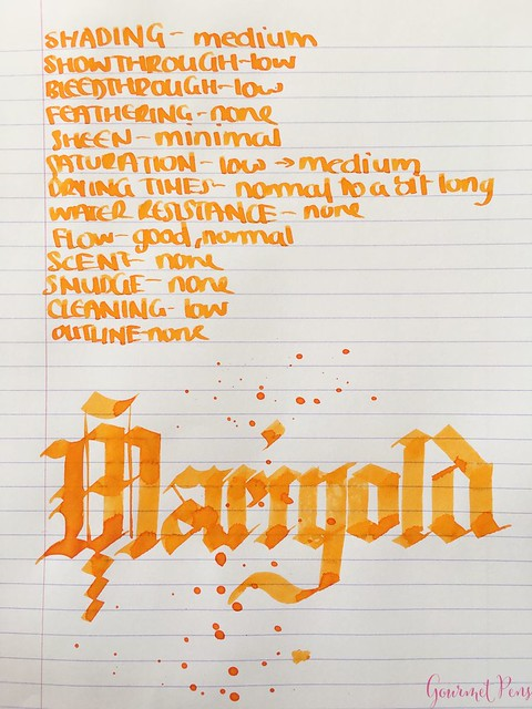 Ink Shot Review Diamine Flowers Marigold @AppelboomLaren 5