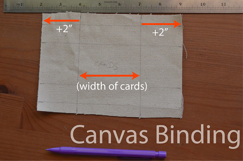 """5. Mark 2"""" line on either side of canvas"""