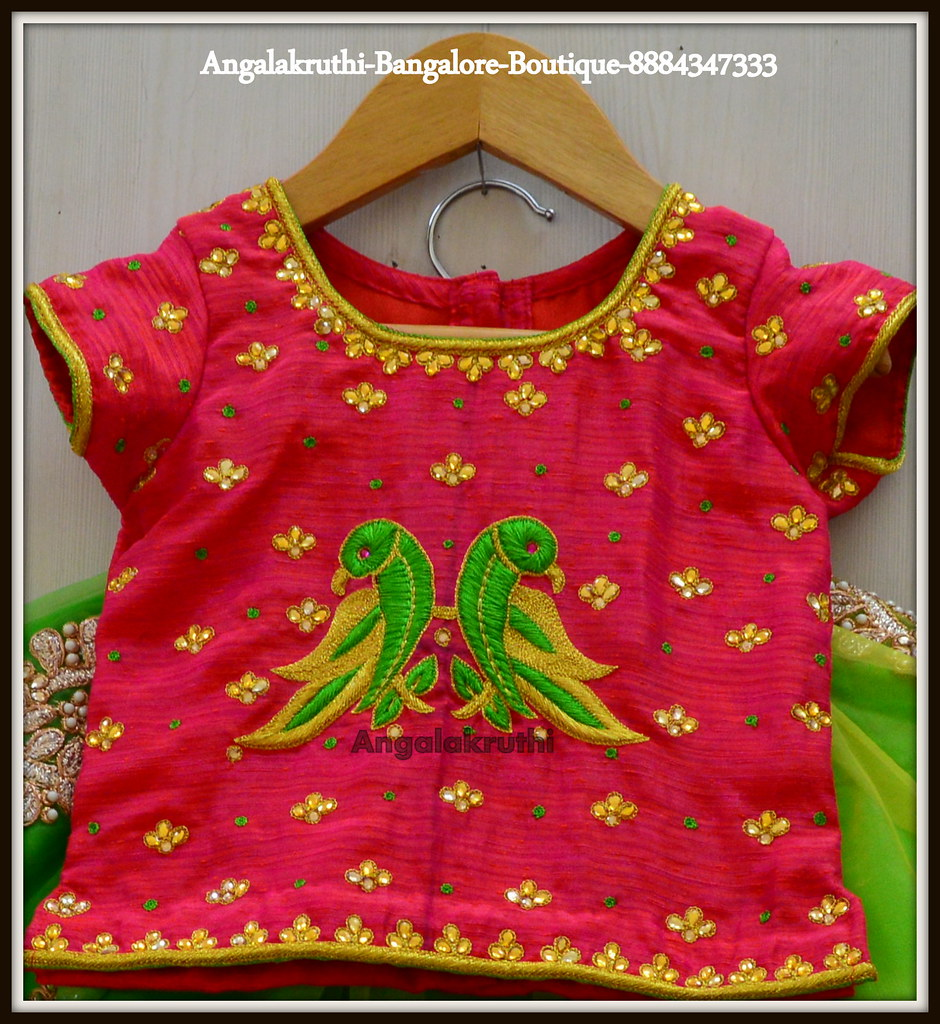 Parrot Hand Embroidery Designs For Kids Dress Angalakruthi