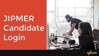 JIPMER MBBS Candidate Login 2018