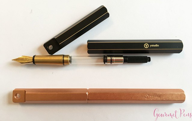 Review YStudio The Weight of Words Portable Fountain Pen - Brassing & Classic @AppelboomLaren 31