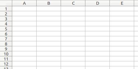 試算表表格