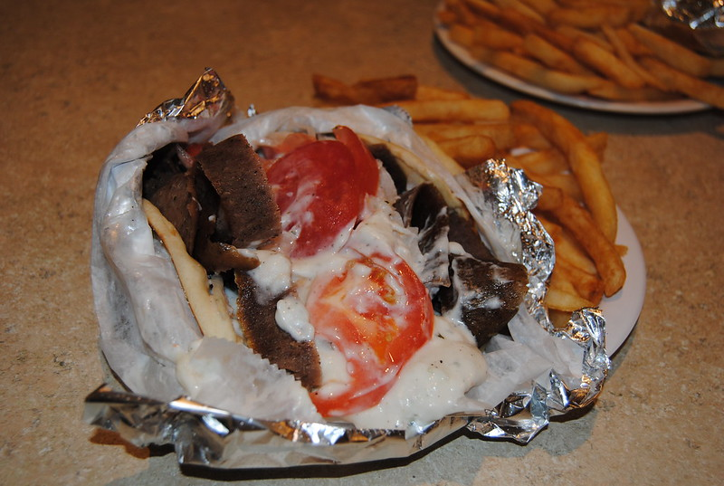 Gyro at Athens Greek Restaurant, Mansfield, Ohio