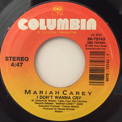 MARIAH CAREY:I DON'T WANNA CRY(LABEL SIDE-A)