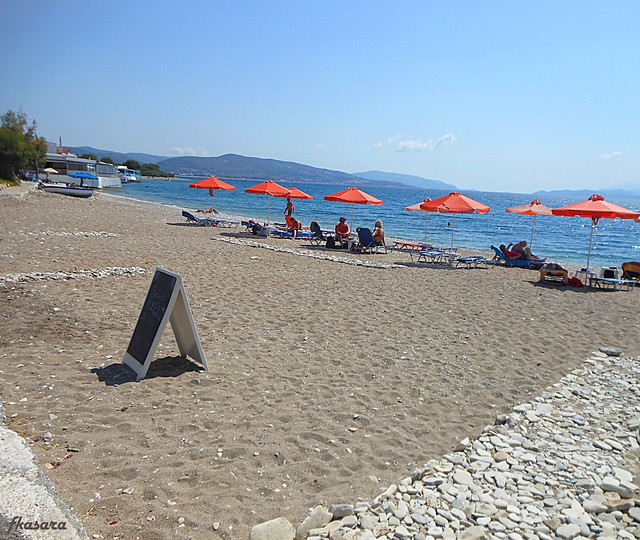 Sand beach, Ireon. Samos.