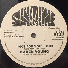 KAREN YOUNG:HOT FOR YOU(LABEL SIDE-A)