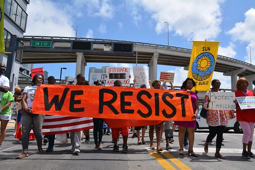 Miamians march through downtown passing various government buildings. | by peoplesclimatemarch