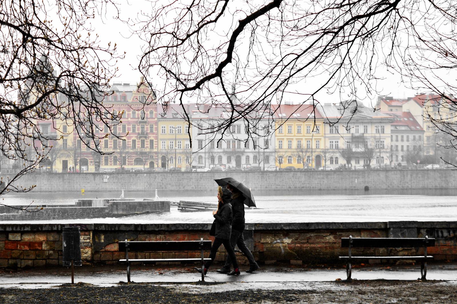 Rain in Prague