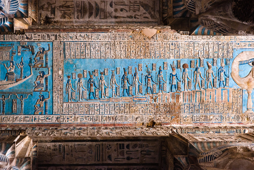 Dendera Temple 04 Scene From The Astronomical Ceiling Of