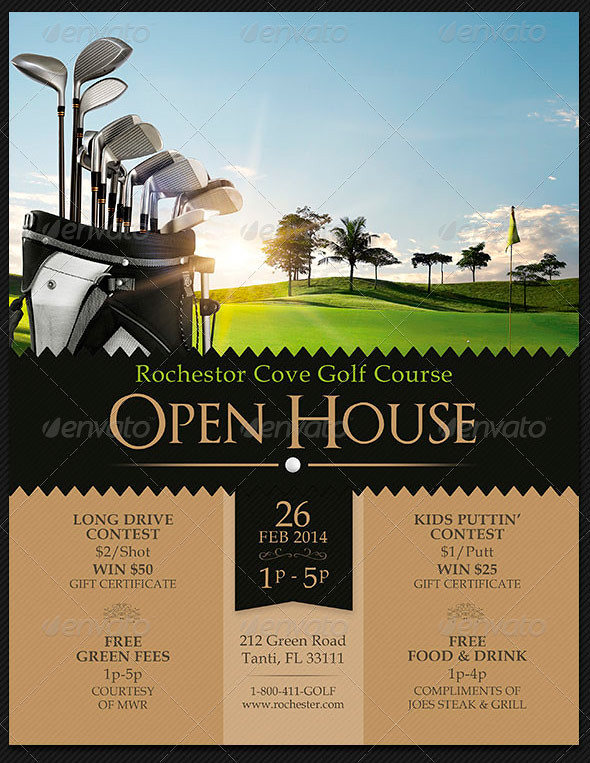 Golf Course Open House Flyer Templates The Golf Course Ope Flickr