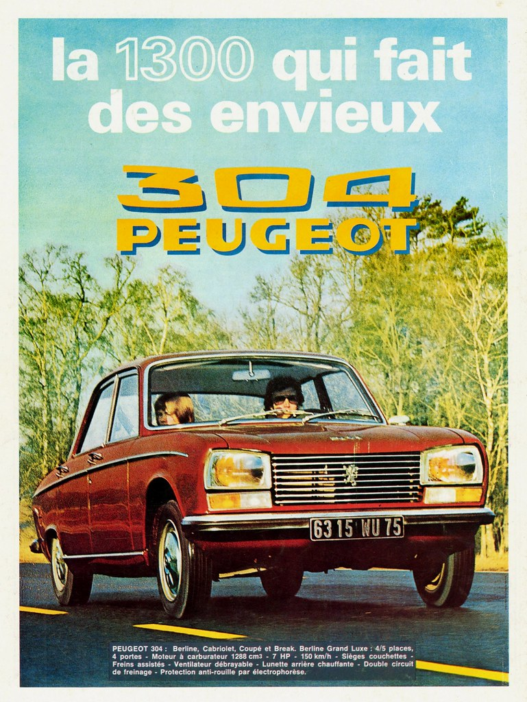 pub peugeot 304 publi e en belgique au mois d 39 avril 1972. Black Bedroom Furniture Sets. Home Design Ideas