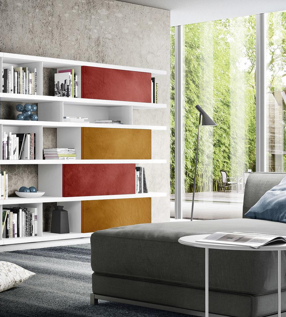 Libreria programma spalla casablanca di zanette for Programma arredamento 3d