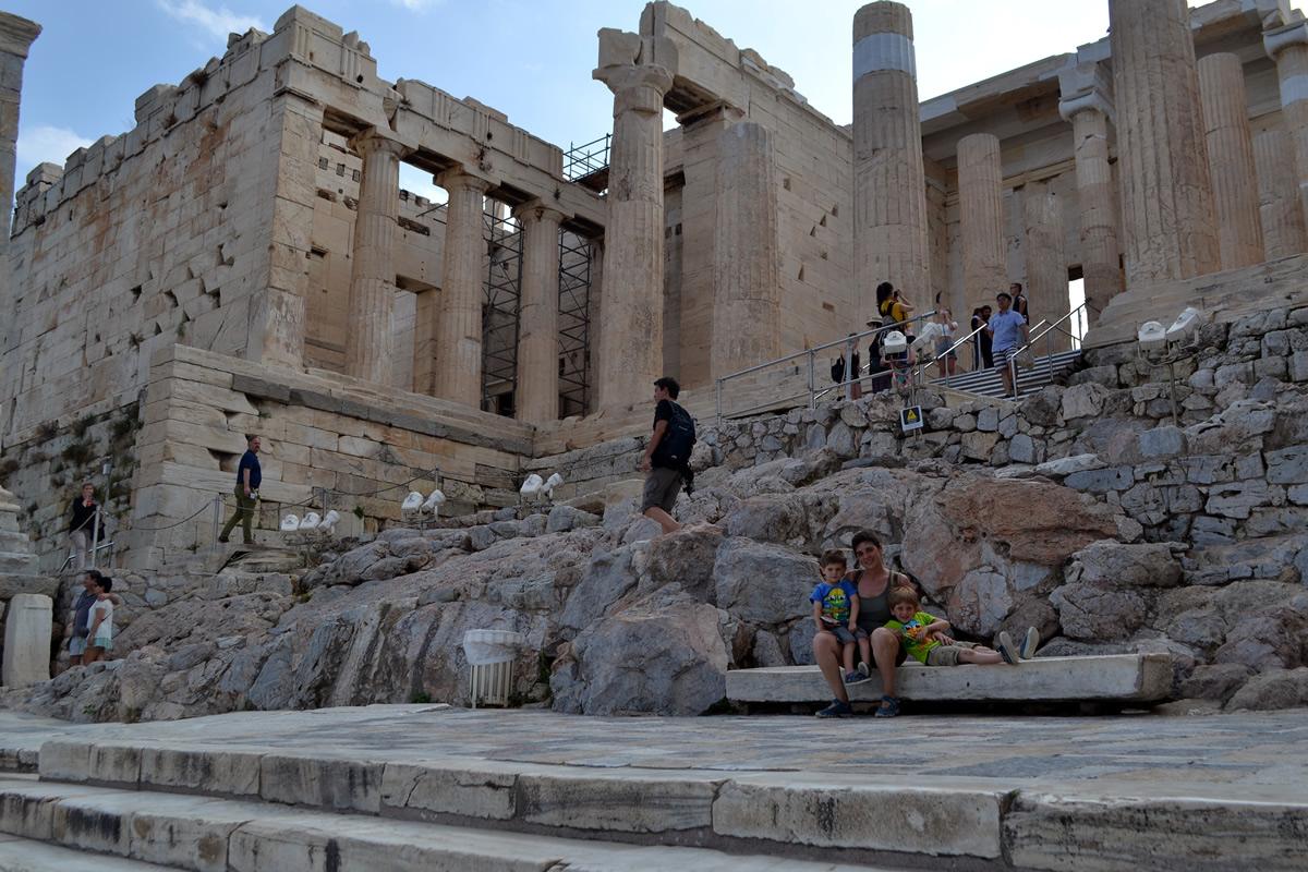 La monumantal entrada a la Acrópolis