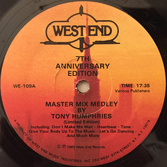 TONY HUMPHRIES:MASTER MIX MEDLEY(LABEL SIDE-A)