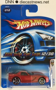 2006 Hot Wheels, 2006 Dodge Viper Coupe, 2006 First Editions 12/38