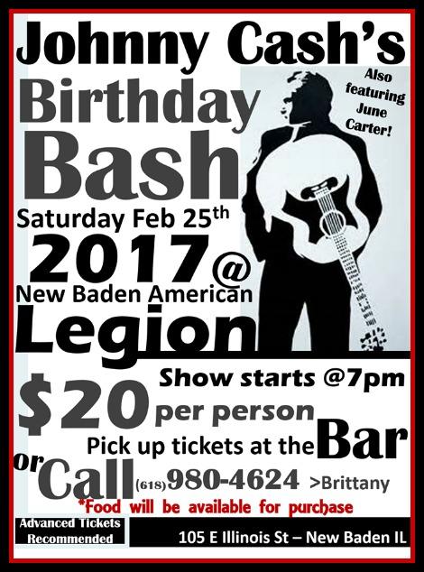 Johnny Cash Birthday Bash 2-25-17