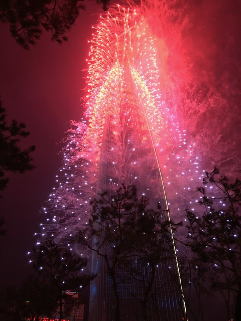 Lotte Tower Fireworks