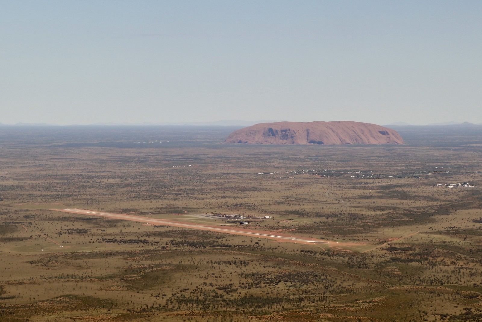 Uluru on approach into Ayers Rock Airport