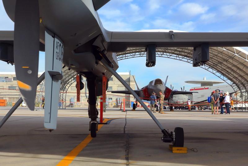 IMG_2457 MQ-9 Reaper and F-35B