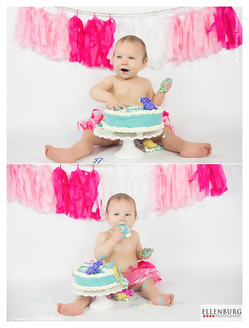 Baby Girl with Cake