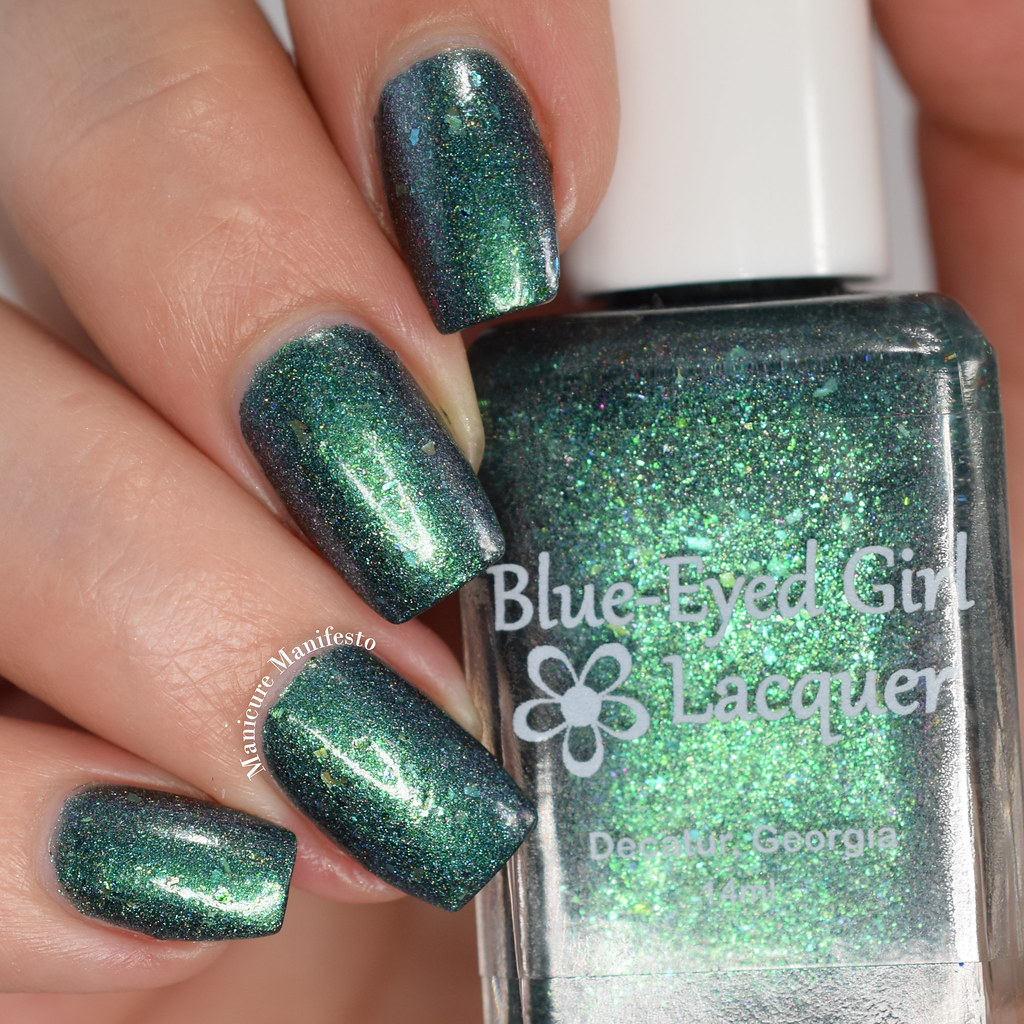 Blue eyed girl lacquer green swatch