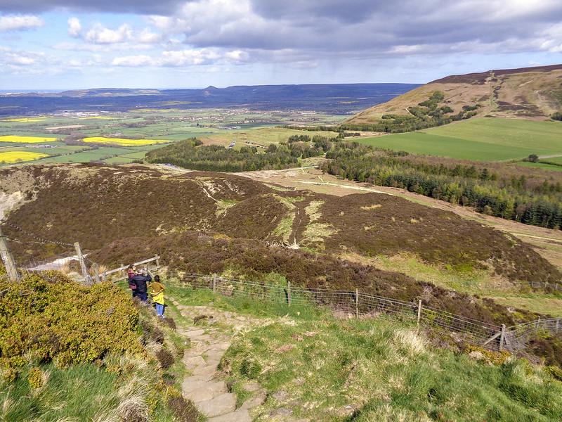 Descending Carlton Moor. Cringle Moor is ahead