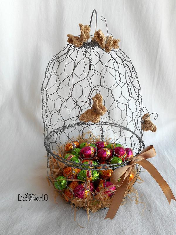 cestino a forma di uovo di rete da conigliera 4