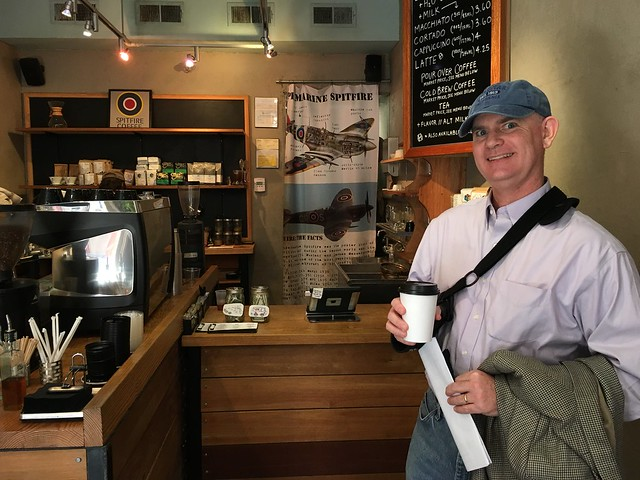 Tom on-site at Spitfire Coffee in NOLA