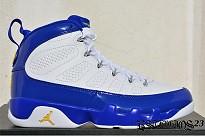 jordan 9 blanco con azul