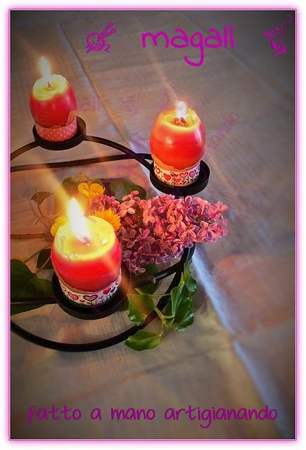 centrotavola Pasqua candeluova profumate