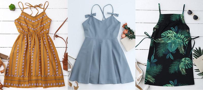 zaful-spaghetti-strap-dresses-2017