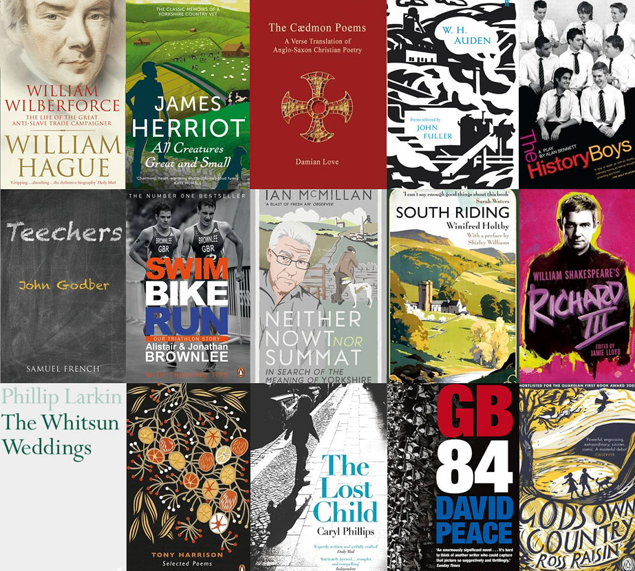 books set in yorkshire, books written by yorkshire authors, fifty books to celebrate yorkshire day