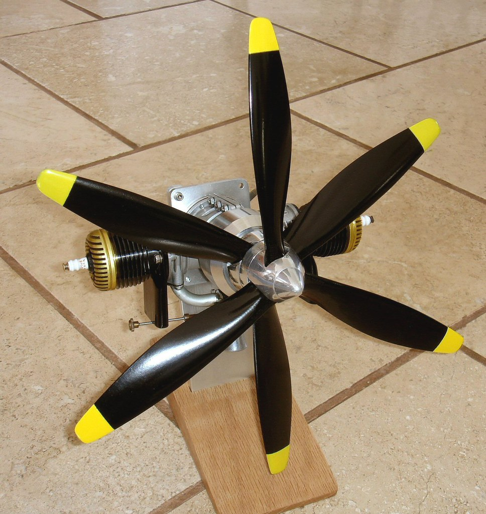 Counter Rotating Propellers : Ok twin with contra rotating props by dennis fadden canad