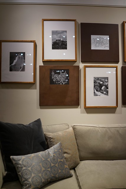 Assorted Custom Wood Frames Grouping on Wall | Flickr - Photo Sharing!
