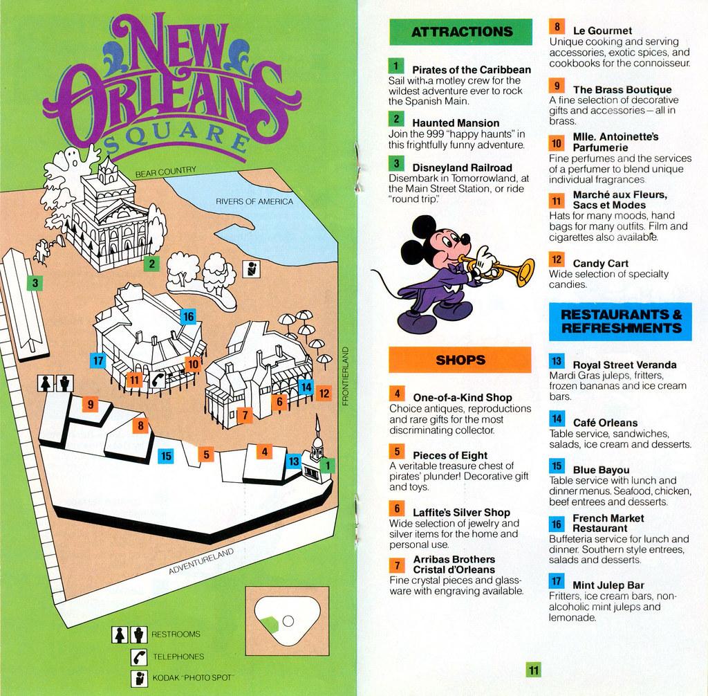 Disneyland Guide Book 1985 07 - New Orleans Square | Flickr Disneyland