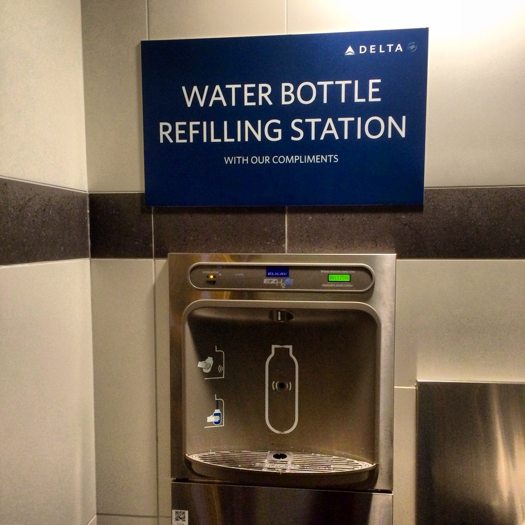 Water Bottle Refilling Station At Lga By Delta Water