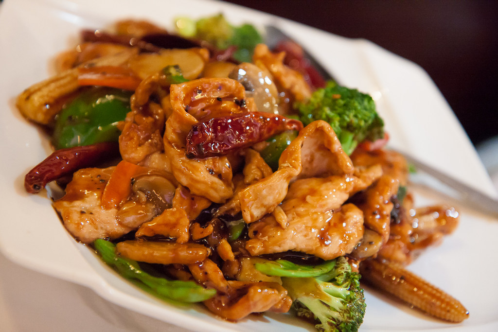 Chinese Food Chicken Combination Dish