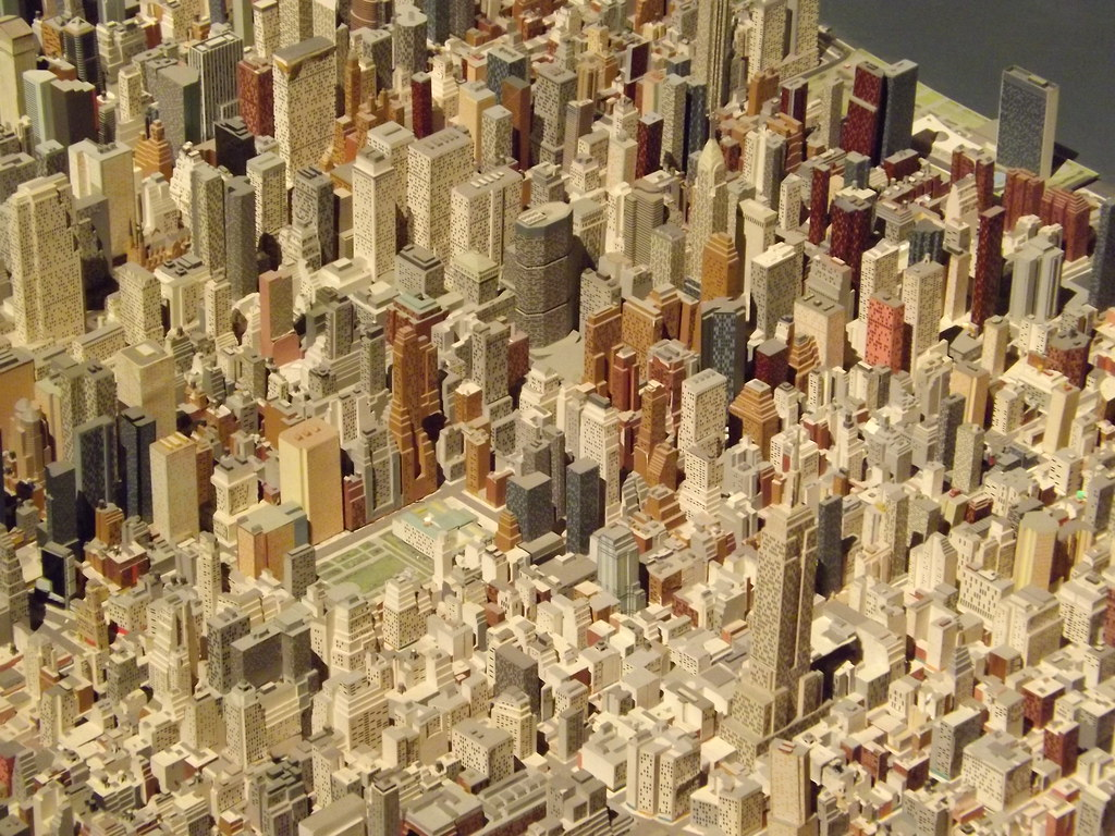 New york city panorama scale model of new york city quee for New york models