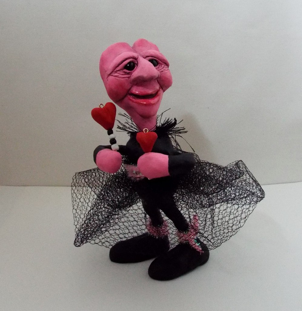 valentine art doll speedy polymer clay valentine art doll flickr. Black Bedroom Furniture Sets. Home Design Ideas