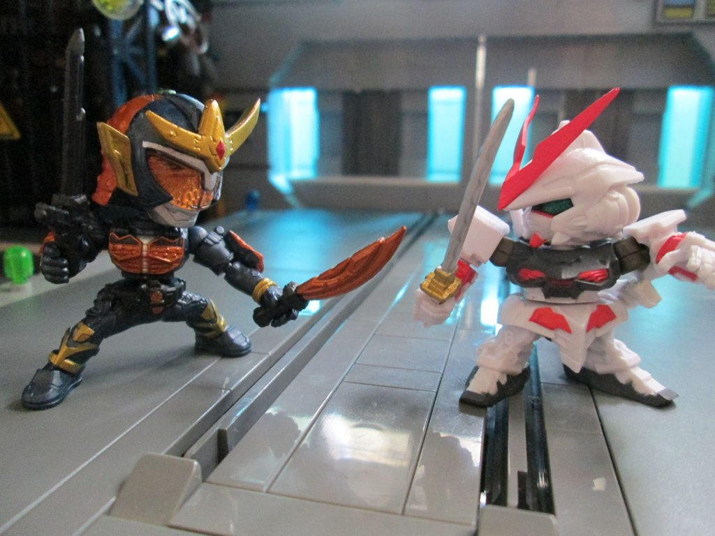 Kamen Rider Gaim vs Astray Red Frame | Samurai vs Samurai. C… | Flickr
