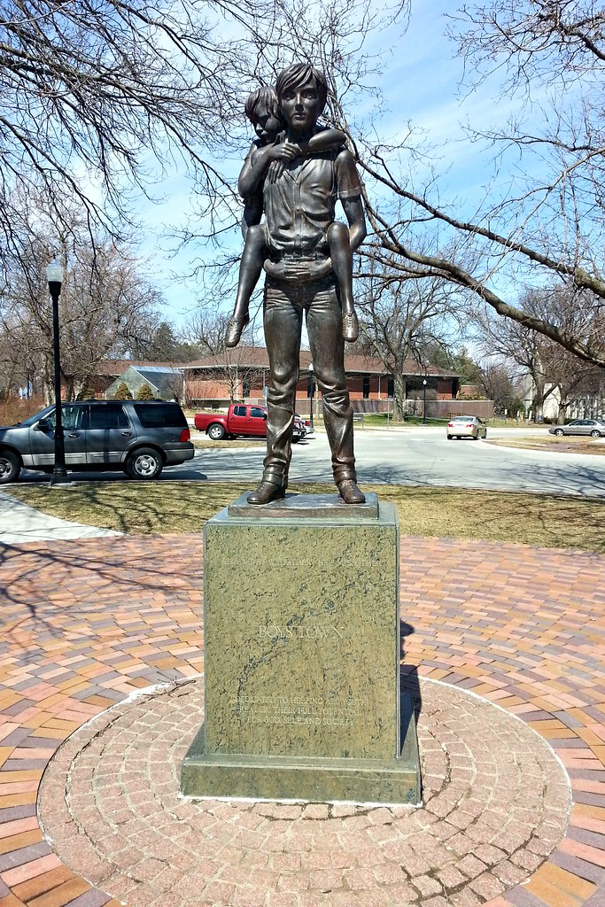 Image result for boys town,statue