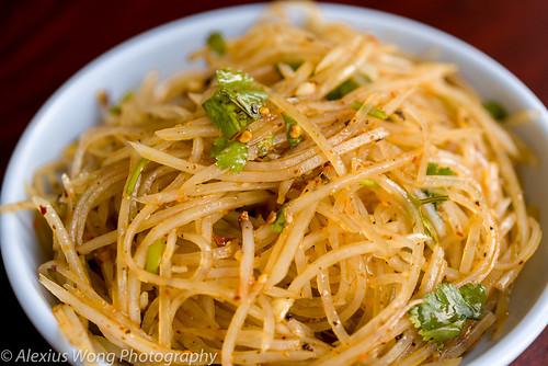 Shredded Potato Salad, NW Chinese Food