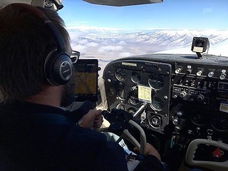 @jonharis and our team fly over the Continental Divide. What a view! | by shortandhat