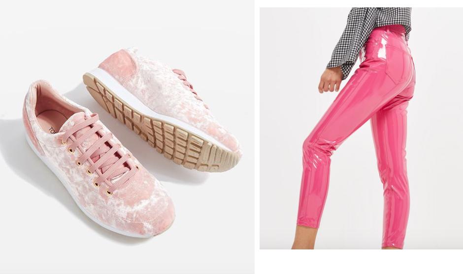 pink-vinyl-pants-buy-online