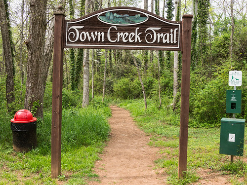 Town Creek Trail sign - 2
